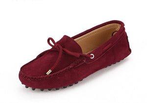 Women Leather Flat Loafers Moccasins Driving Shoes
