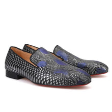 OneDrop Handmade Men Leather Dress Shoes Serpentine Party Wedding Prom Loafers