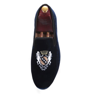 OneDrop Handmade Embroidery Men Velvet Dress Shoes Wedding Party Prom Loafers