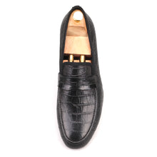 OneDrop Handmade Dress Shoes Crocodile Embossed Genuine Leather Men Party Wedding Prom Loafers
