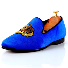 Harpelunde Velvet Loafer Men Flats Handmade Embroidered Casual Shoes