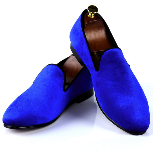 Harpelunde Men Casual Shoes Velvet Loafers British Smoking Slippers
