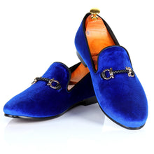 Harpelunde Men Flats Buckle Strap Casual Shoes Velvet Loafer Slippers