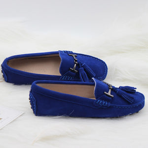 MIYAGINA Women Leather Flats Loafers Driving Spring Autumn Shoes