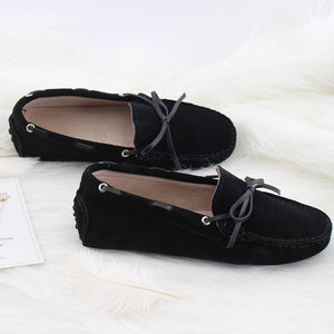 MIYAGINA Women Shoes Fashion Flats Leather Moccasins Driving Loafers