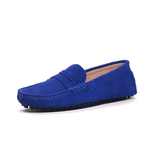 MIYAGINA Men Leather Loafers Flats Moccasins Driving Shoes