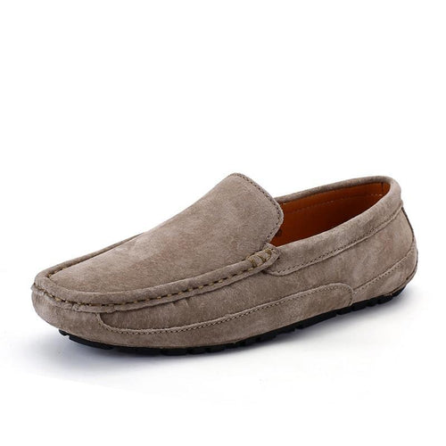 MIYAGINA Soft Moccasins Men Leather Loafers Flats Driving Shoes