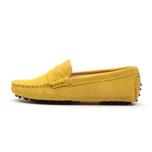 MIYAGINA Women Leather Loafers Flats Moccasins Driving Shoes