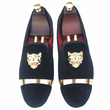 Journey West Men Prom And Wedding Black Velvet Loafers With Buckle Red Bottom
