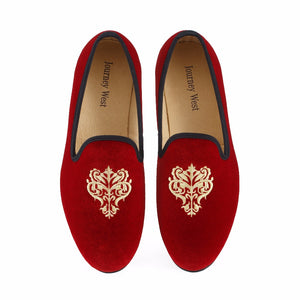 Men Journey West Velvet Prom Embroidery Party And Wedding Loafers