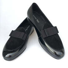 Journey West Handmade Men Black Leather Prom Dress Loafers