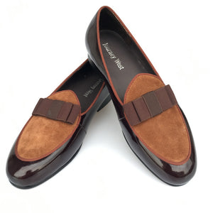 Journey West Handmade Men Brown Banquet Leather Wedding And Prom Loafers