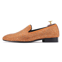 OneDrop Dress Shoes Full Rhinestone Handmade Men Wedding Prom Party Loafers