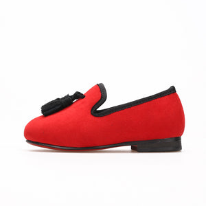 OneDrop Children Velvet Kid Handmade Red Bottom Wedding Party And Prom Loafers
