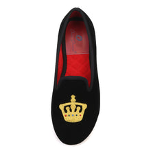 OneDrop Crown Embroidery Women Velvet Dress Shoes Party Wedding Prom Loafers
