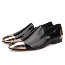 OneDrop Handmade Men Dress Shoes Patent Leather  Party Wedding Prom Loafers