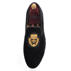 OneDrop Handmade Embroidery Men Dress Shoes Velvet Banquet Wedding Party Prom Loafers