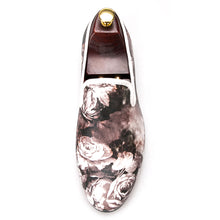 OneDrop Handmade Leopard Flower Print Men Dress Shoes party Wedding Prom Loafers