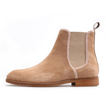 OneDrop Handmade Men Leather CHELSEA Boots Pigskin Suede