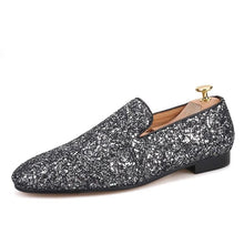 OneDrop Handmade Mixed Rhinestone Color Men Dress Shoes Party Wedding Prom Loafers