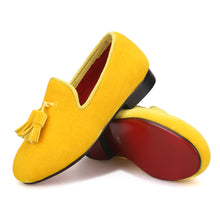 OneDrop Kid Handmade Children Velvet Party Prom And Wedding Red Bottom Loafers