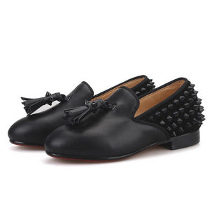 OneDrop Kid Children Spikes Handmade Party Wedding And Party Tassel Loafers