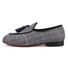 OneDrop Handmade Kid Children Gingham Cotton Dress Shoes Red Bottom Wedding Party Prom Loafers