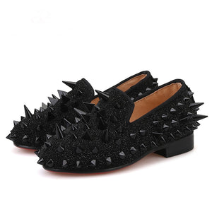 Kid OneDrop Handmade Children Wedding Party And Prom Spikes Loafers