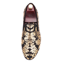 OneDrop Handmade Dress Shoes High End Gold Printing Men Wedding Party Prom Loafers