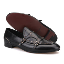 OneDrop Men Handmade Spikes Leather Party Wedding Prom Dress Shoes Loafers