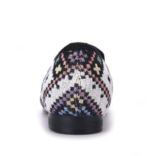 OneDrop Handmade Mixed Colors Men Flats Ethnic Lattice Dress Shoes Party Wedding Prom Loafers