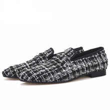 OneDrop Handmade Knit Fabric Men Party Wedding Prom Loafers