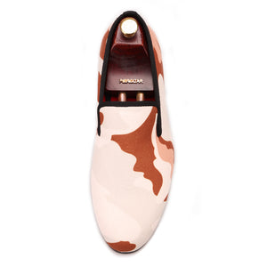 OneDrop Handmade Dress Shoes Camouflage Men Canvas Party Wedding Prom Loafers