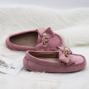 MIYAGINA Woman Leather Flat Moccasins Loafers Driving Shoes