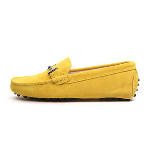 Women MIYAGINA Leather Flats Moccasins Loafers Driving Shoes