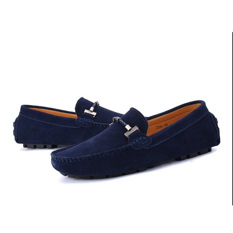 6773af7a4a240 ... Miyagina Men Moccasins Leather Flat Casual Loafers Slip On Driving Shoes  ...
