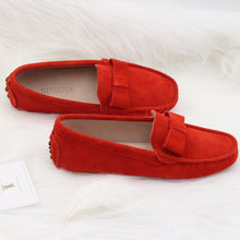 MIYAGINA Women Slip On Leather Flat Shoes Handmade Loafers