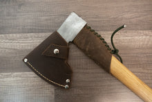 Handmade leather axe sheath
