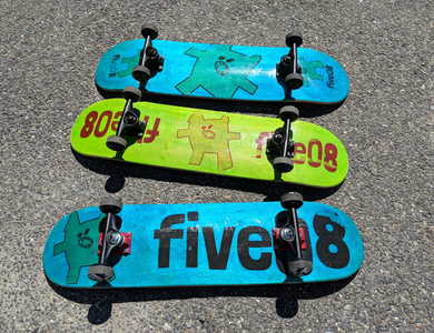 Handmade 7 ply Skateboard Deck (With Monsters!) - fiveO8