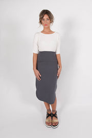 DAISY MIDI SKIRT - Grey