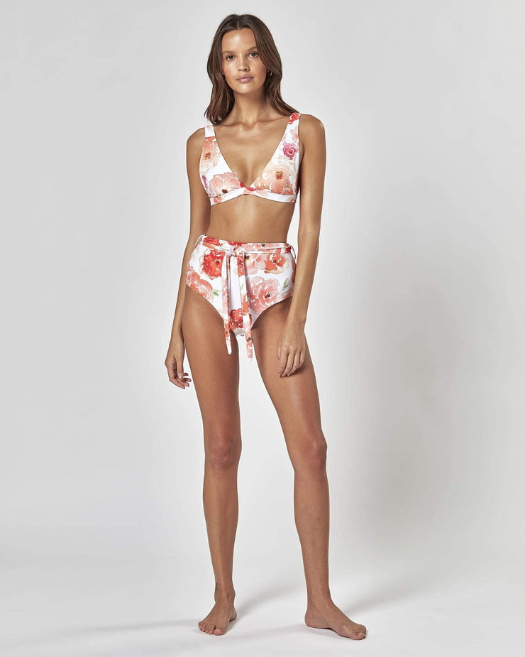 CABANA HIGH WAISTED BRIEF - Roses