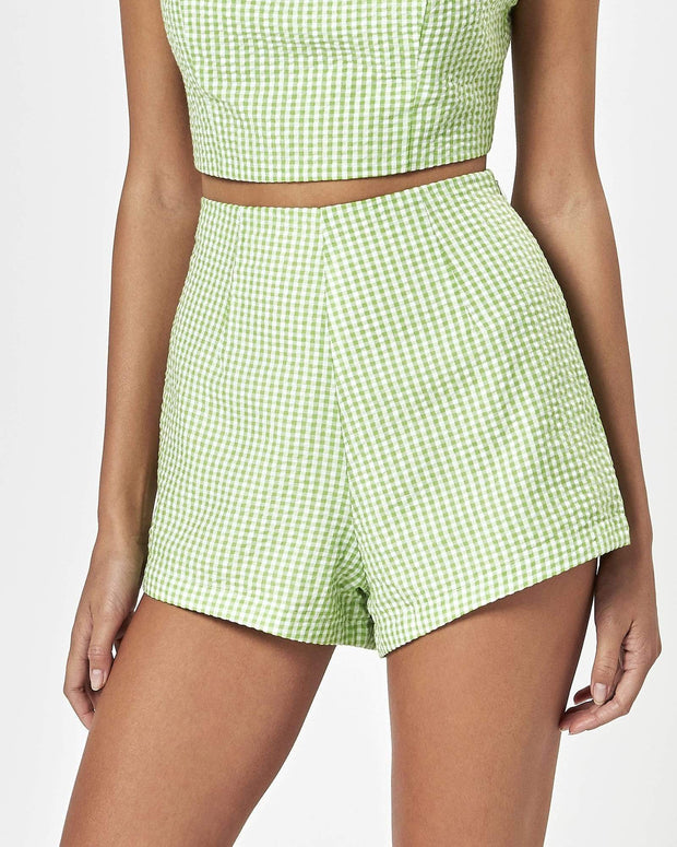 CHARLIE HOLIDAY CARA SHORT - Apple gingham