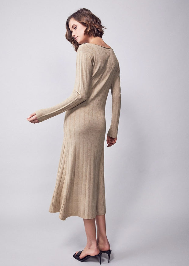 MEREDITH KNOT MIDI DRESS