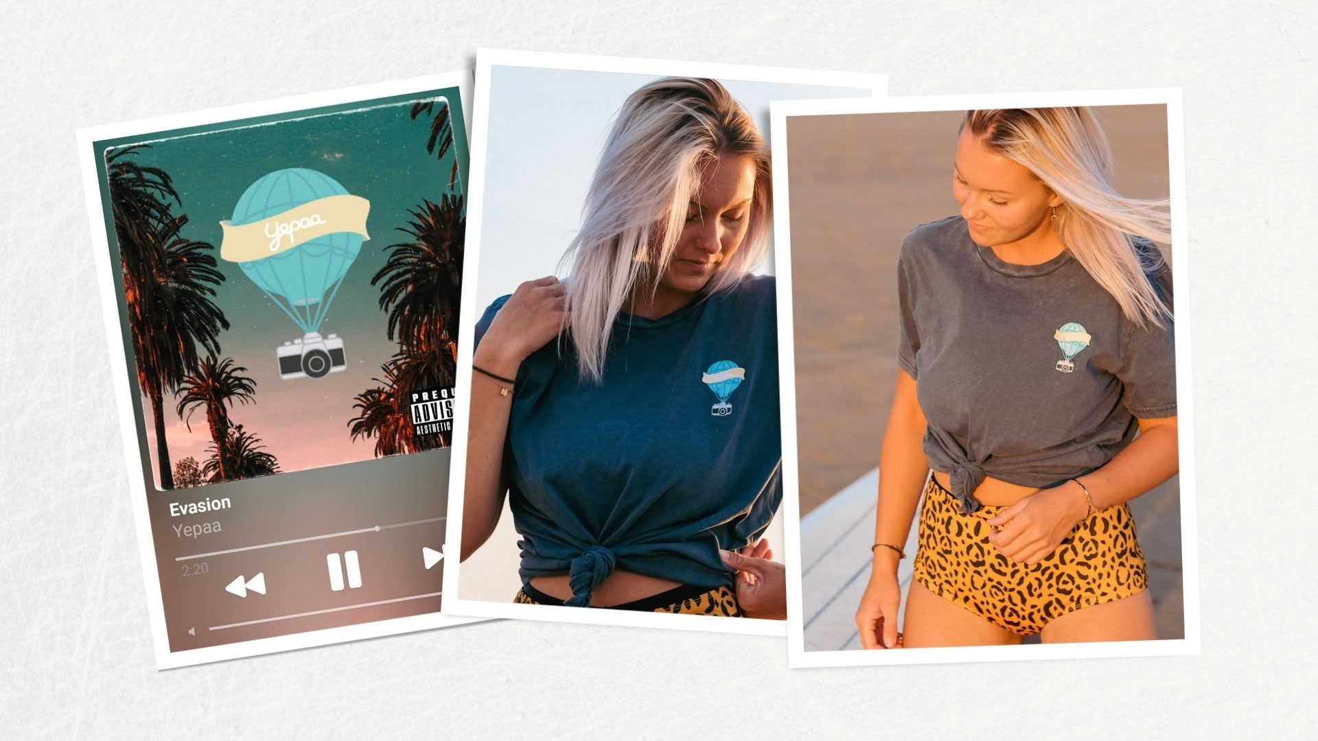Evasion - Collection 2021 Yepaa, la mode durable française surfwear et skate wear - Collection Summer of love