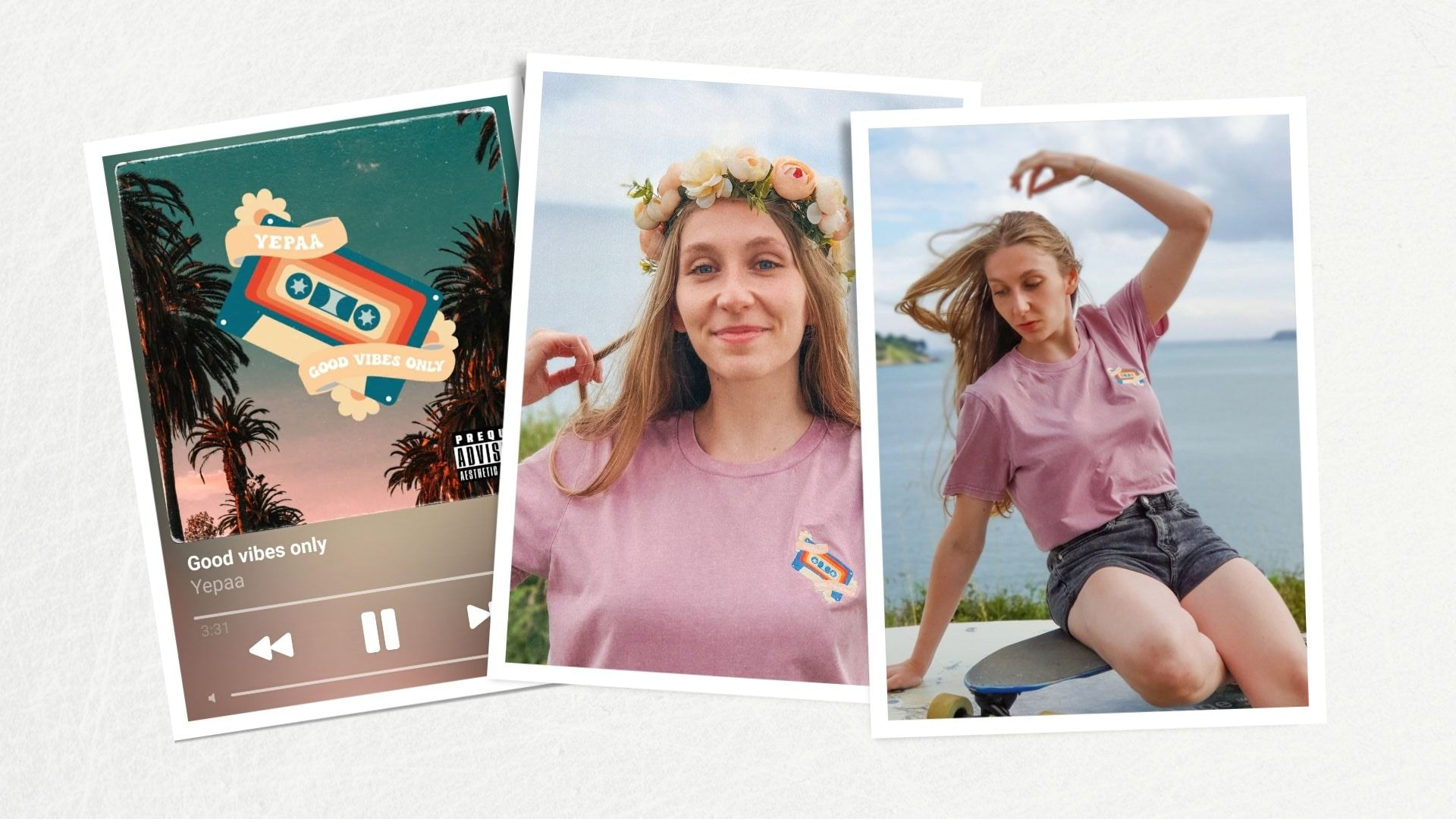 Good vibes only - Collection 2021 Yepaa, la mode durable française surfwear et skate wear - Collection Summer of love