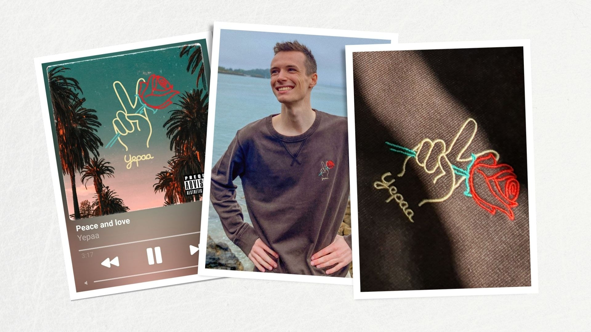 Peace and love - Collection 2021 Yepaa, la mode durable française surfwear et skate wear - Collection Summer of love