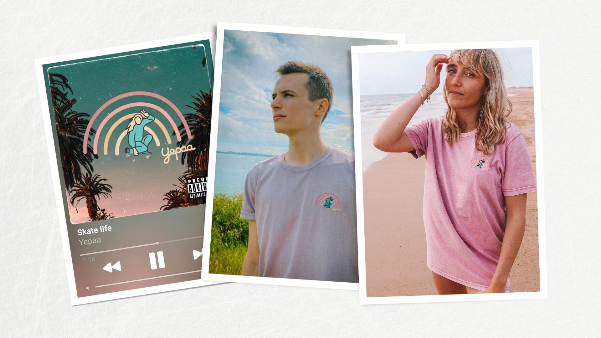 Skate life - Collection 2021 Yepaa, la mode durable française surfwear et skate wear - Collection Summer of love