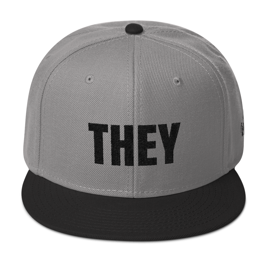 THEY Pronoun Snapback Hat