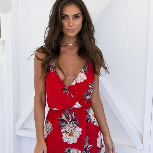 Robe florale sexy