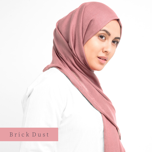 Hijab-Set Brick Dust aus Viskose